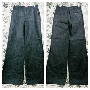 Limited Cassidy wide leg low rise denim trousers 0